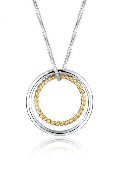Elli Halskette Kreis Ring Geo Basic Trend 925 Sterling Silber
