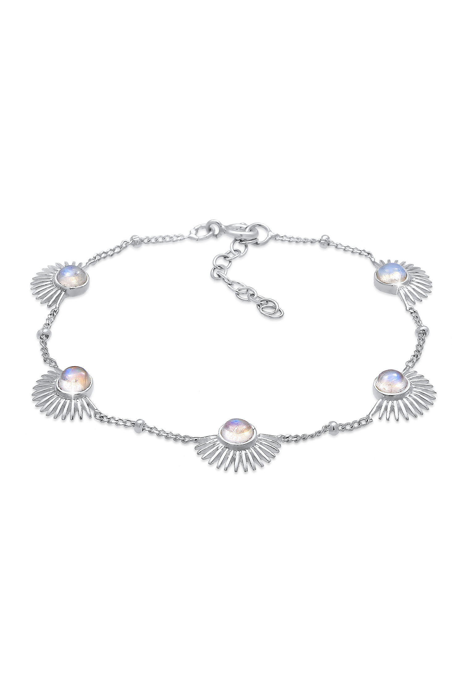 Armband Astro | Mondstein ( Weiß ) | 925er Sterling Silber