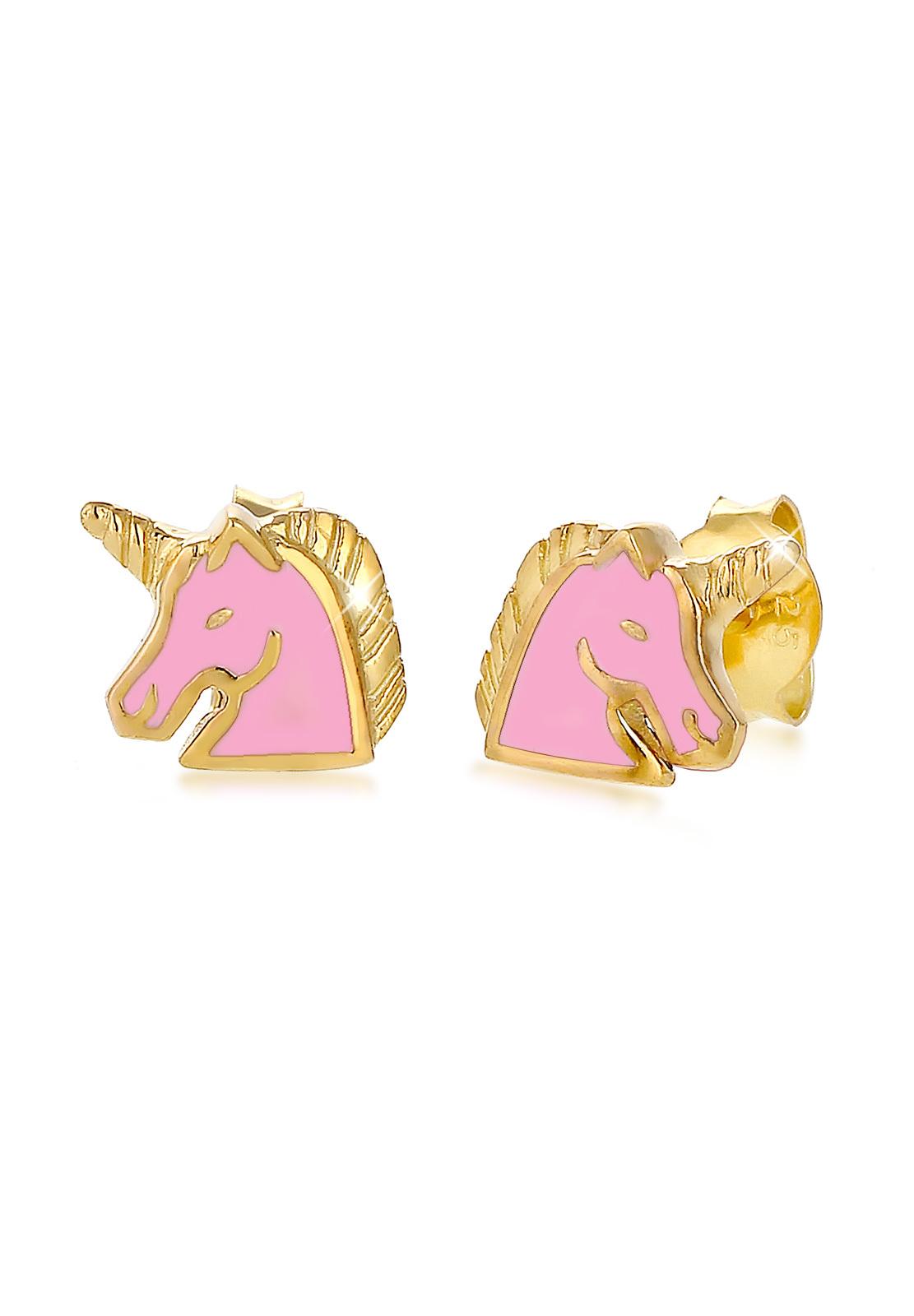 Ohrring Einhorn | 925 Sterling Silber vergoldet