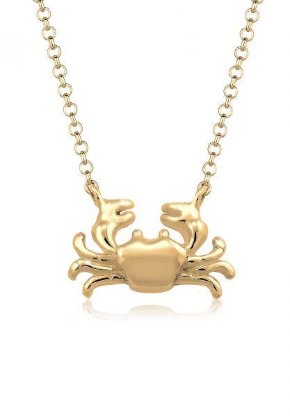 Halskette Krebs   925 Sterling Silber vergoldet