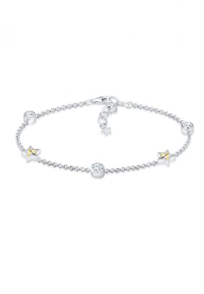 Armband Astro   Kristall ( Weiß )   925er Sterling Silber