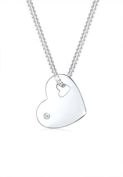 DIAMORE Halskette Herz Solitär Diamant (0.015 ct.) 925 Silber