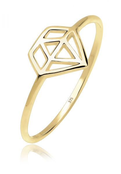 Elli PREMIUM Ring Diamant Trendsymbol 375 Gelbgold