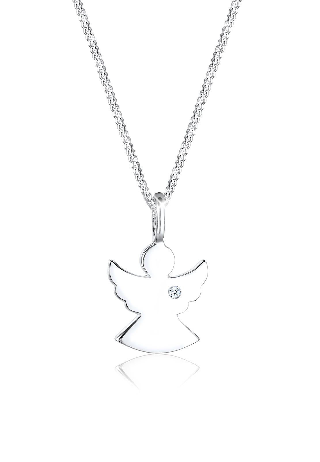 Halskette Engel | Diamant ( Weiß, 0,015 ct ) | 925er Sterling Silber