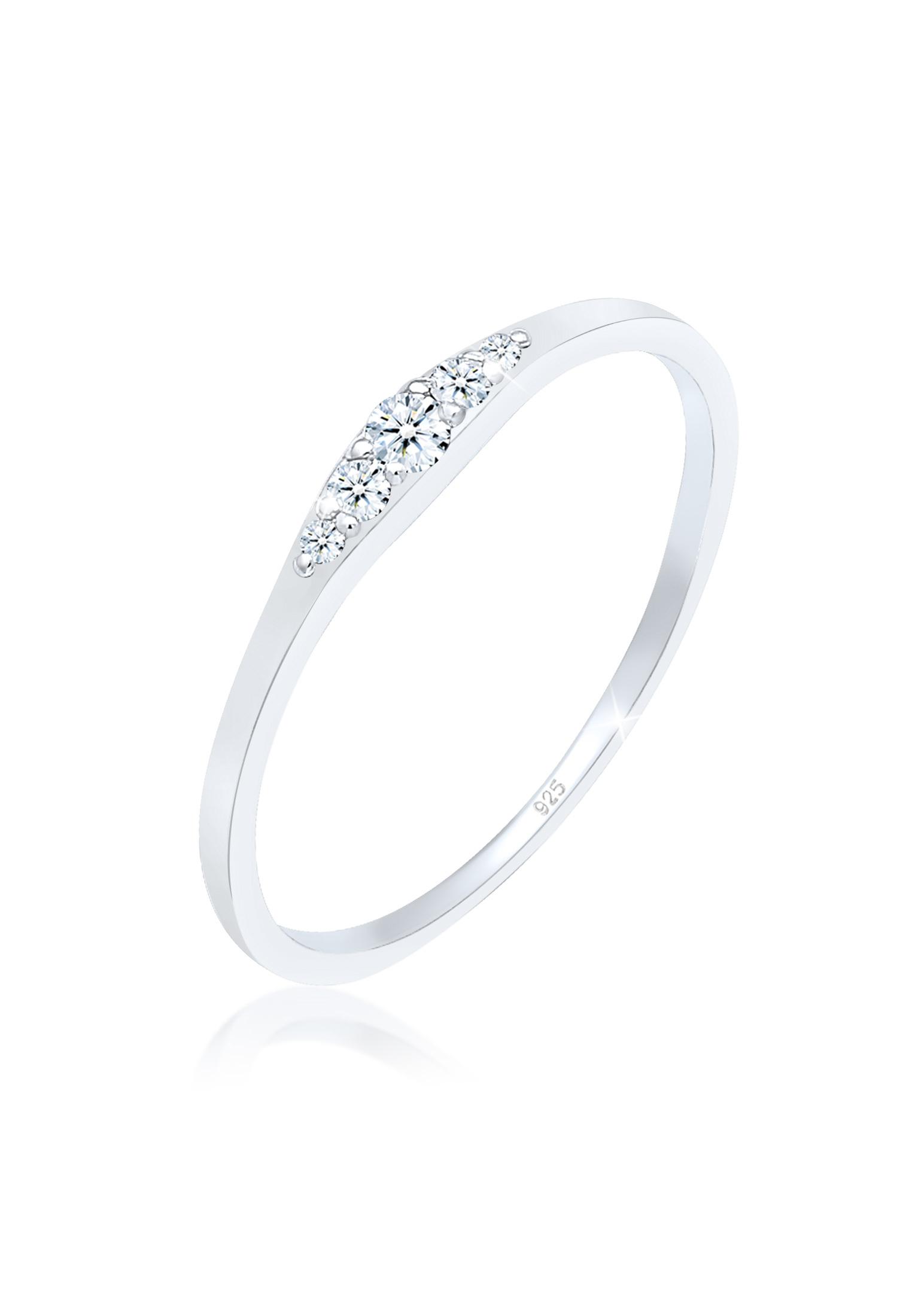 Verlobungsring | Diamant ( Weiß, 0,07 ct ) | 925er Sterling Silber