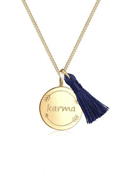 Halskette Karma   925 Sterling Silber vergoldet