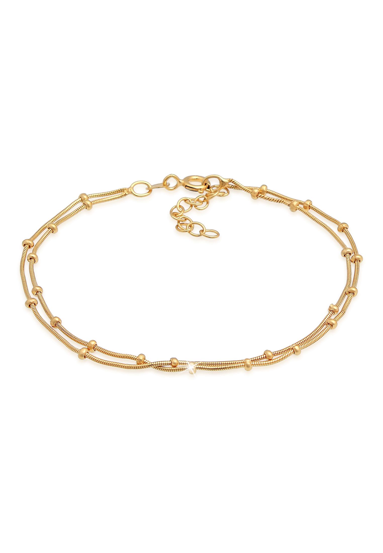 Kugel-Gliederarmband | 925 Sterling Silber vergoldet