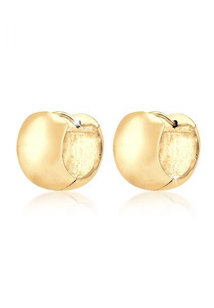 Elli PREMIUM Ohrringe Creolen Basic Elegant Klassisch 925 Silber