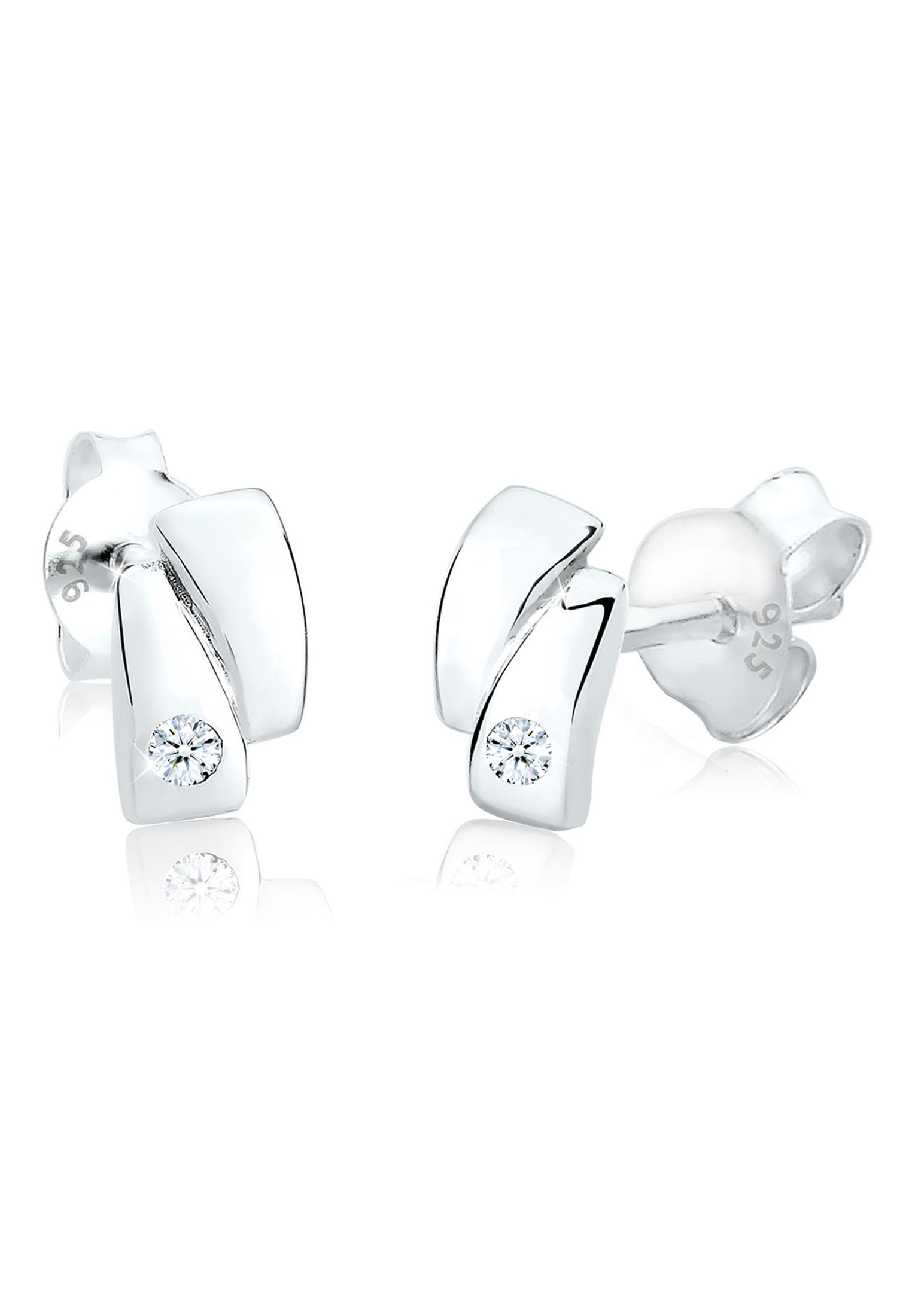 Ohrstecker | Diamant ( Weiß, 0,03 ct ) | 925er Sterling Silber