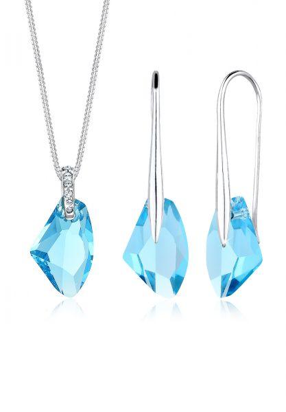 Halskette | Kristall ( Hellblau ) | 925er Sterling Silber