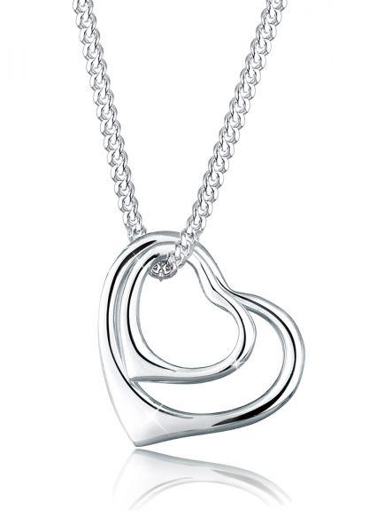 Elli Halskette Herzen Filigran 925 Sterling Silber