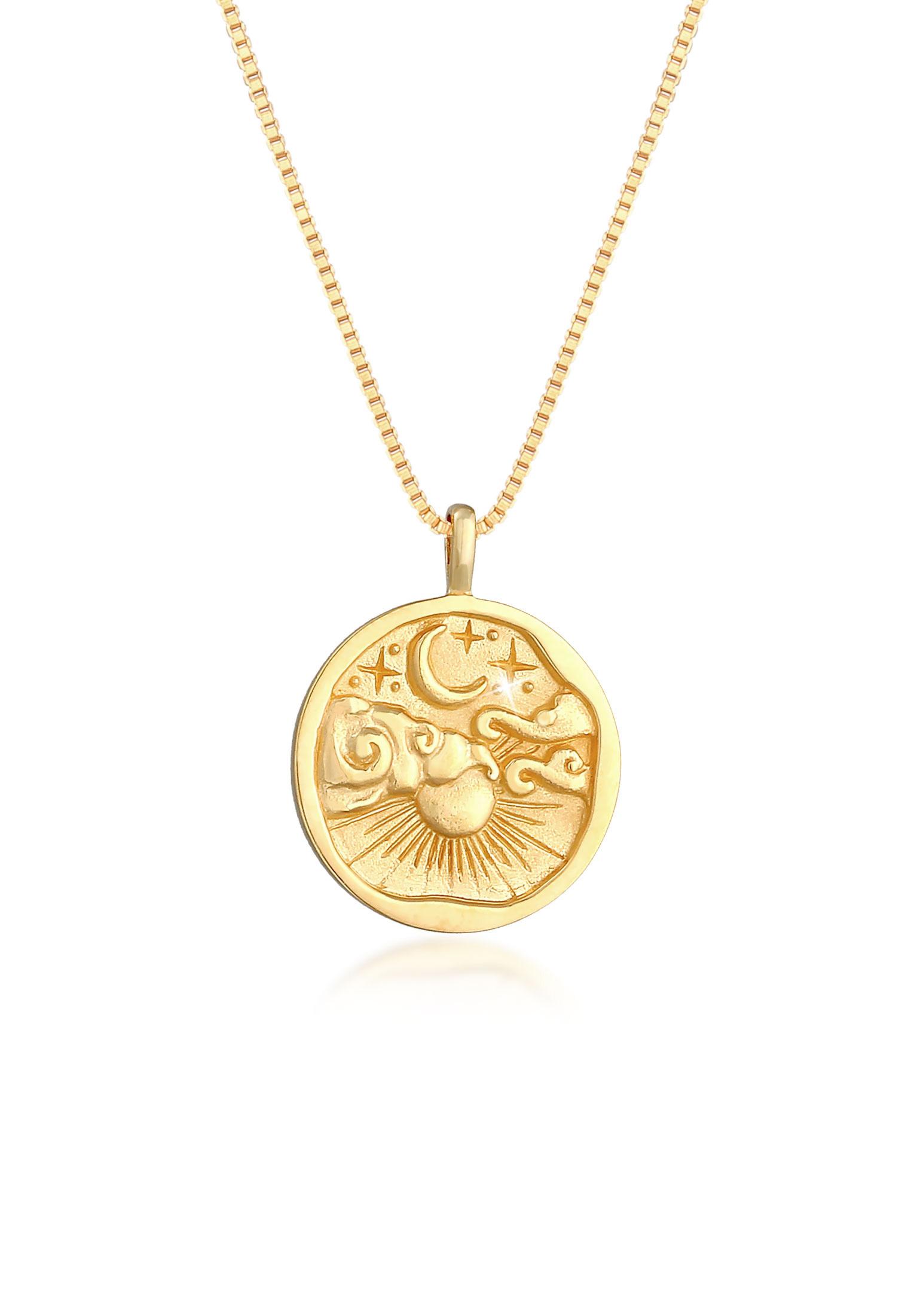 Venezianer-Halskette Astro | 925 Sterling Silber vergoldet