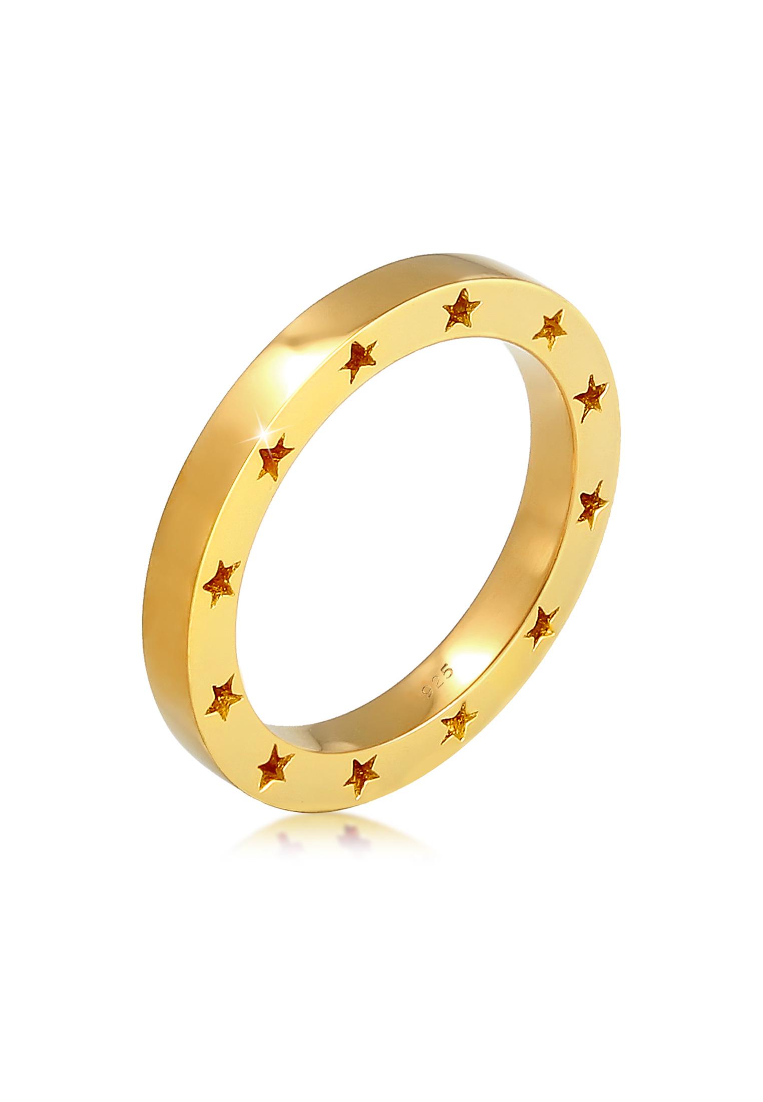 Ring Stern | 925 Sterling Silber vergoldet
