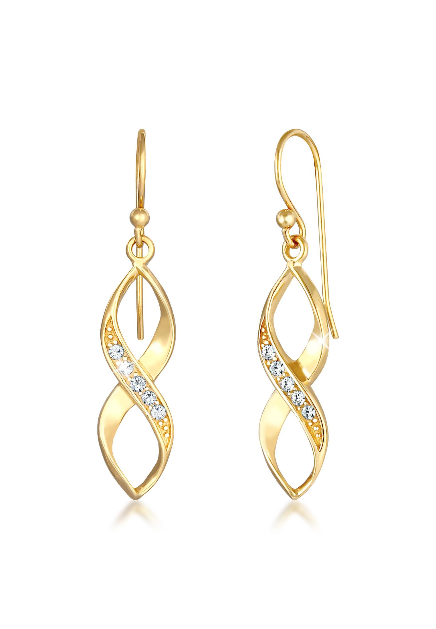 Ohrhänger Infinity | Kristall ( Weiß ) | 925er Sterling Silber