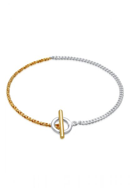 Armband T-Bar Bicolor | 925er Sterling Silber