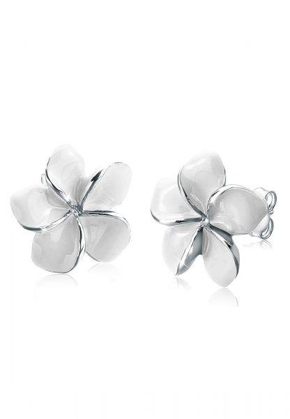 Ohrstecker Frangipani Blüte | 925er Sterling Silber