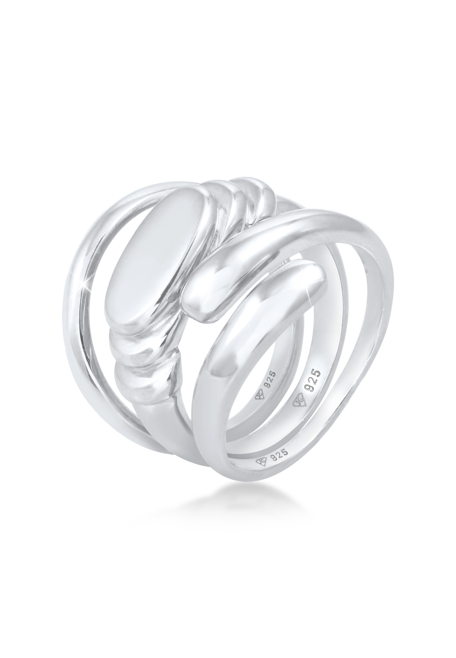 Ring 3er Set Statement | 925er Sterling Silber