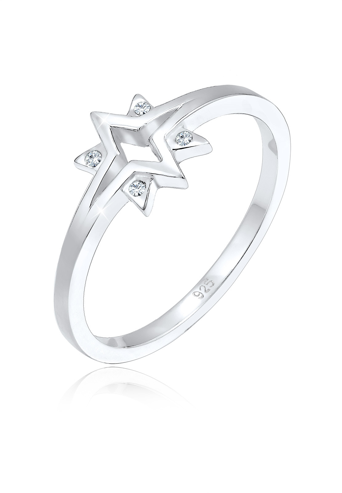 Ring Astro | Kristall ( Weiß ) | 925er Sterling Silber