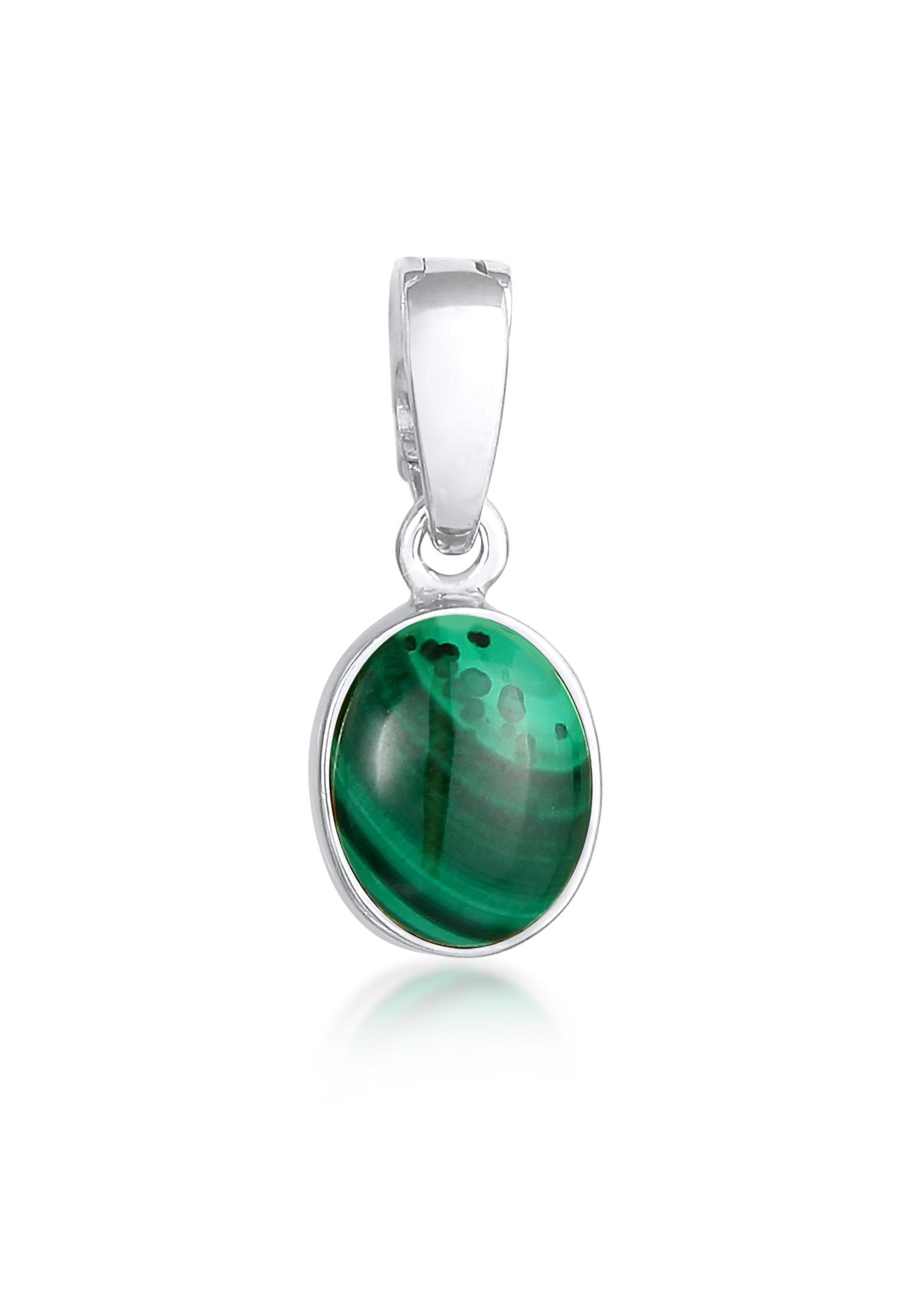 Anhänger | Malachit ( Grün ) | 925er Sterling Silber