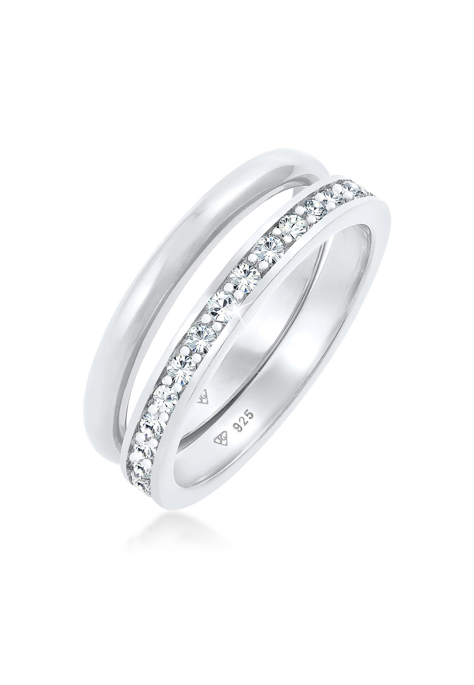 Bandring | Kristall ( Weiß ) | 925er Sterling Silber