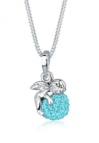 Elli Halskette Talisman Engel Kristalle 925 Silber