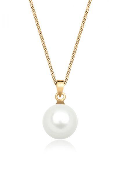 Halskette | Perle | 585 Gelbgold