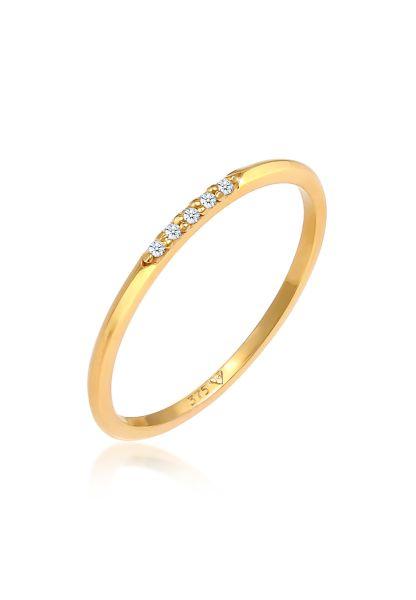 Ringset | Diamant ( Weiß, 0,025 ct ) | 375 Gelbgold