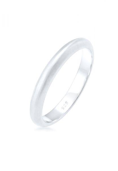 Elli Ring Basic Minimal Matt 925 Sterling Silber