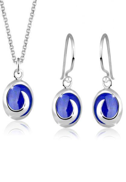Schmuckset | Lapis Lazuli ( Blau ) | 925er Sterling Silber