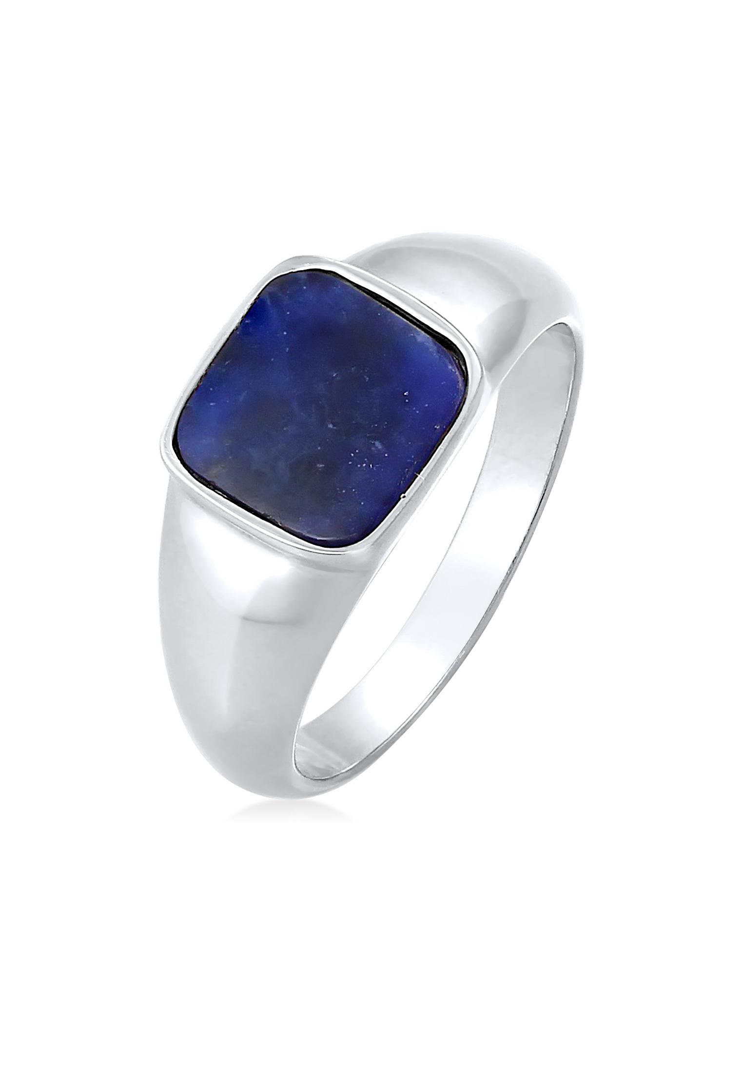 Siegelring | Sodalith (blau) | 925er Sterling Silber