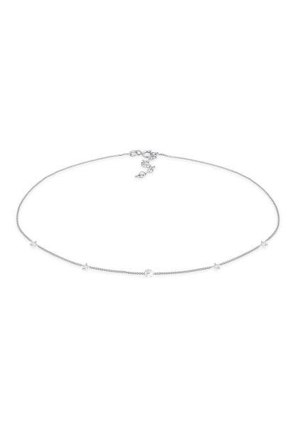 Elli Halskette Choker Sterne Halbmond Astro Look 925 Silber