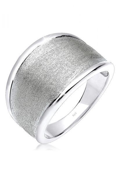 Elli Ring Basic Matt Trend Silber 925 Sterling Silber