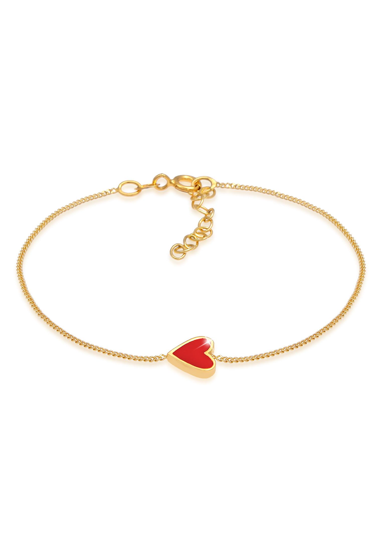 Armband Herz | 925 Sterling Silber vergoldet