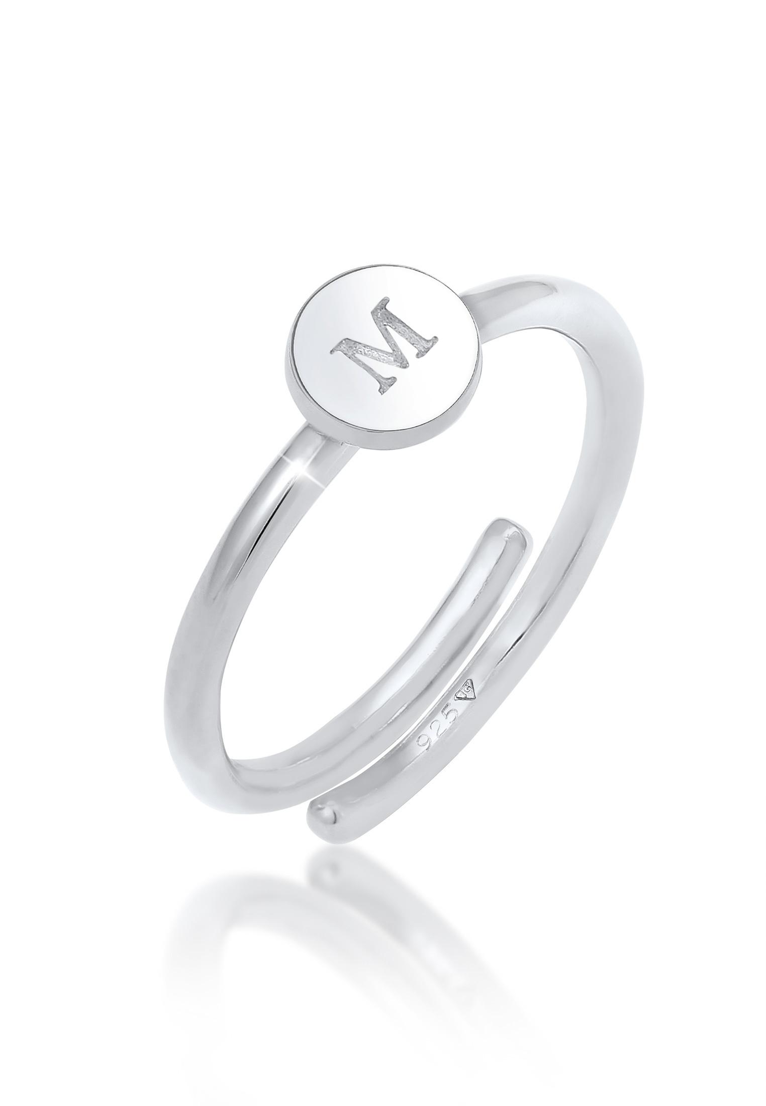 Ring Buchstabe   925er Sterling Silber