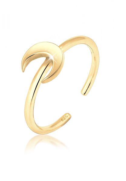 Elli Ring Halbmond Luna Basic Astro 925 Silber