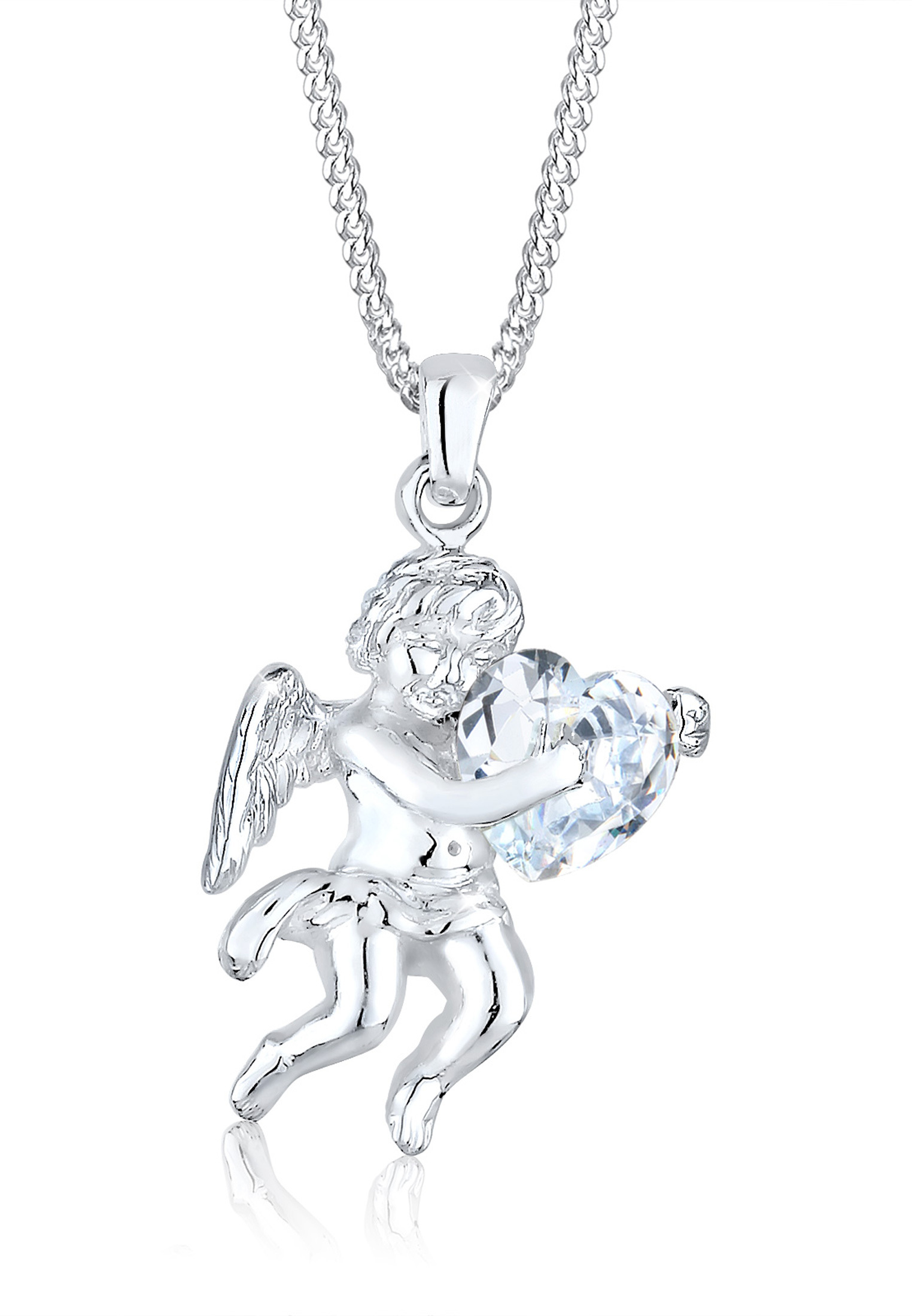 Halskette Engel | Zirkonia ( Weiß ) | 925er Sterling Silber