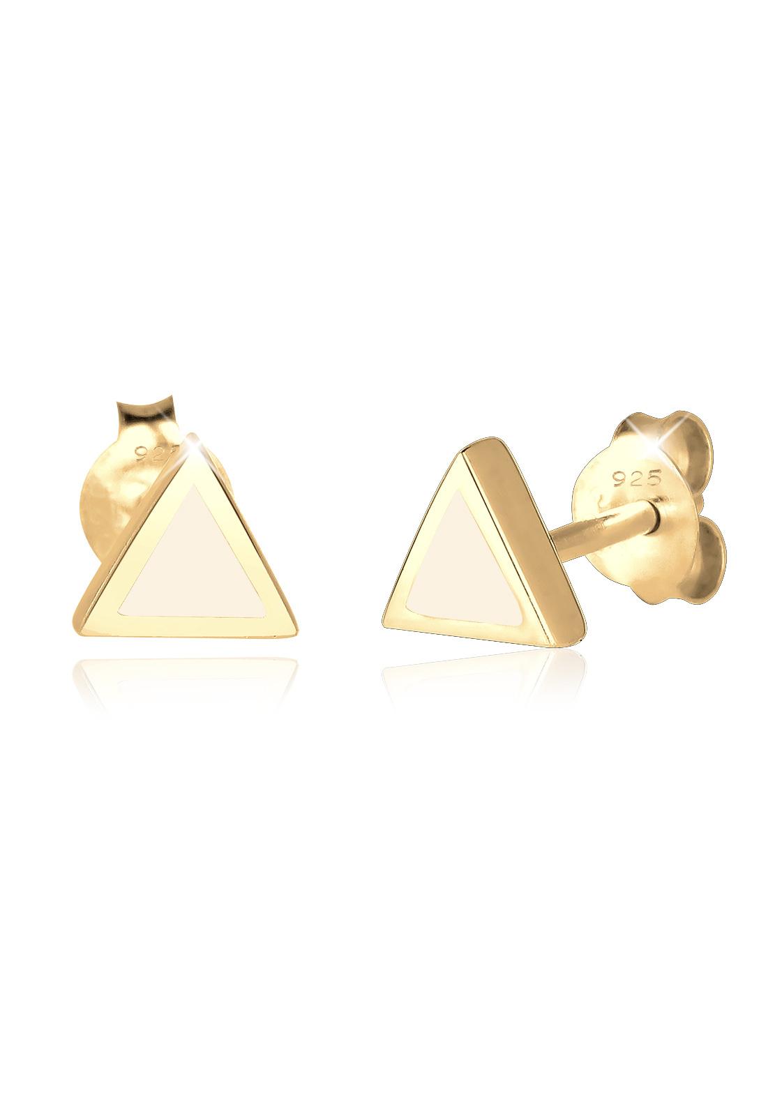Ohrstecker Dreieck | 925 Sterling Silber vergoldet