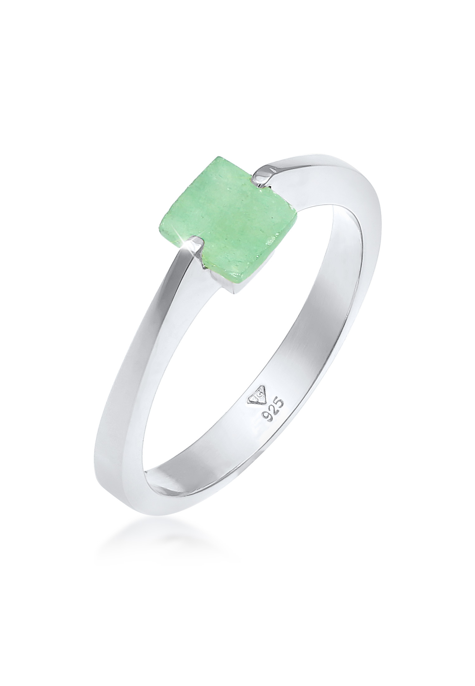Ring | Jade ( Grün ) | 925 Sterling Silber vergoldet