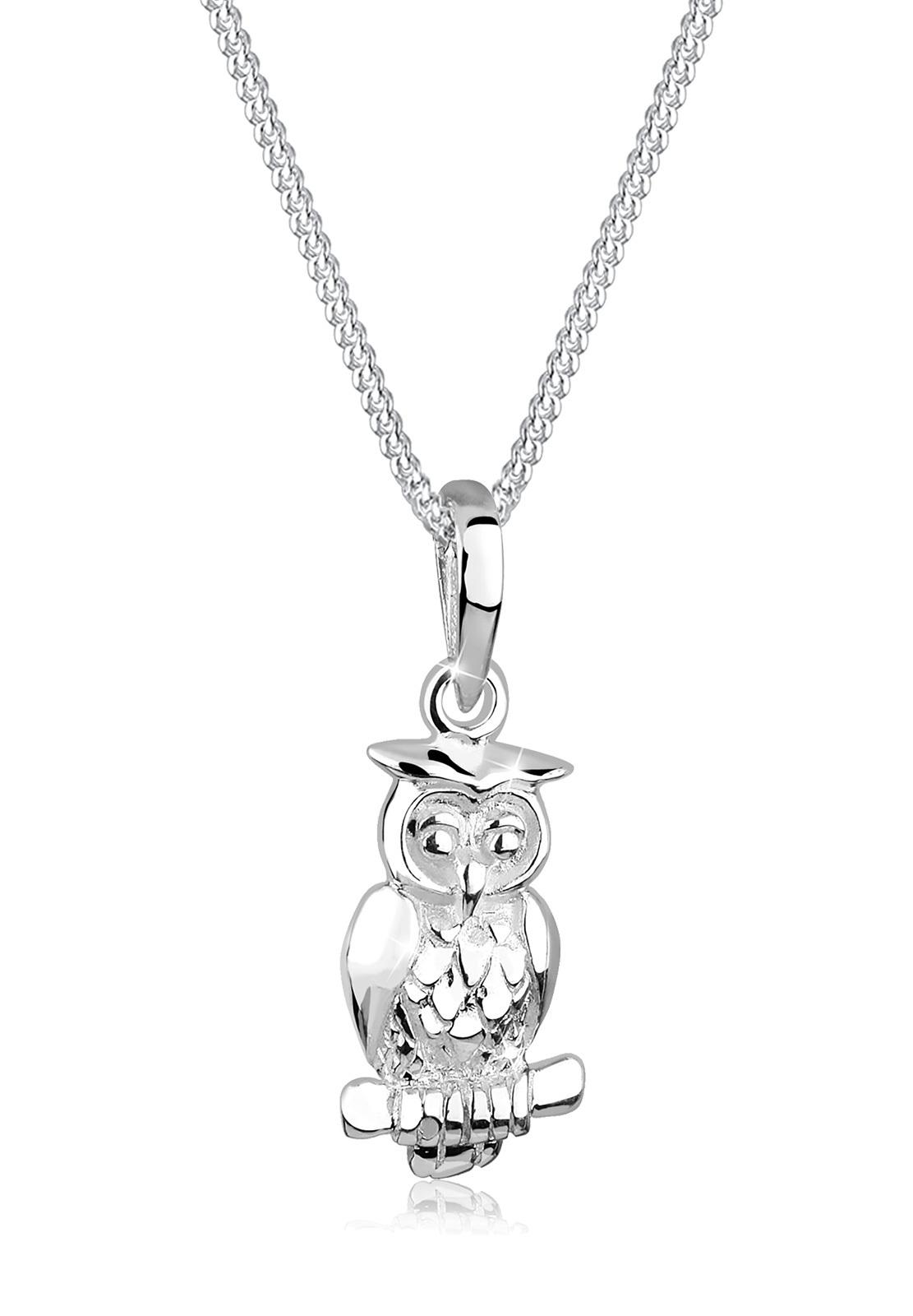 Halskette Eule   925er Sterling Silber