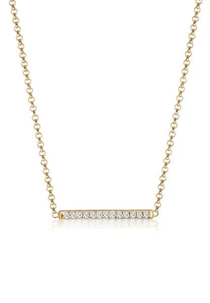 Halskette | Diamant ( Weiß, 0,065 ct ) | 375 Gelbgold