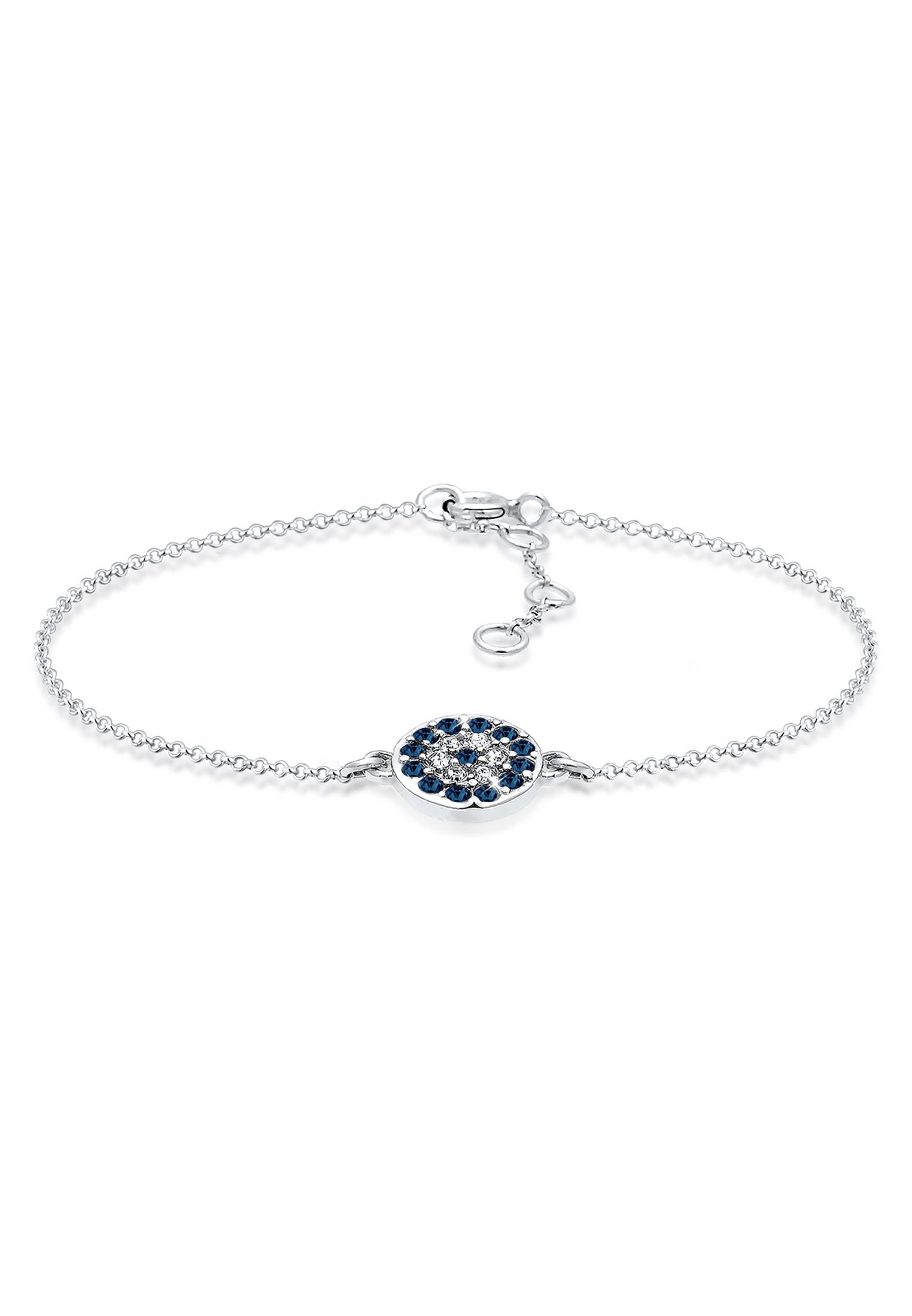 Armband Evil Eye   Kristall ( Blau )   925er Sterling Silber