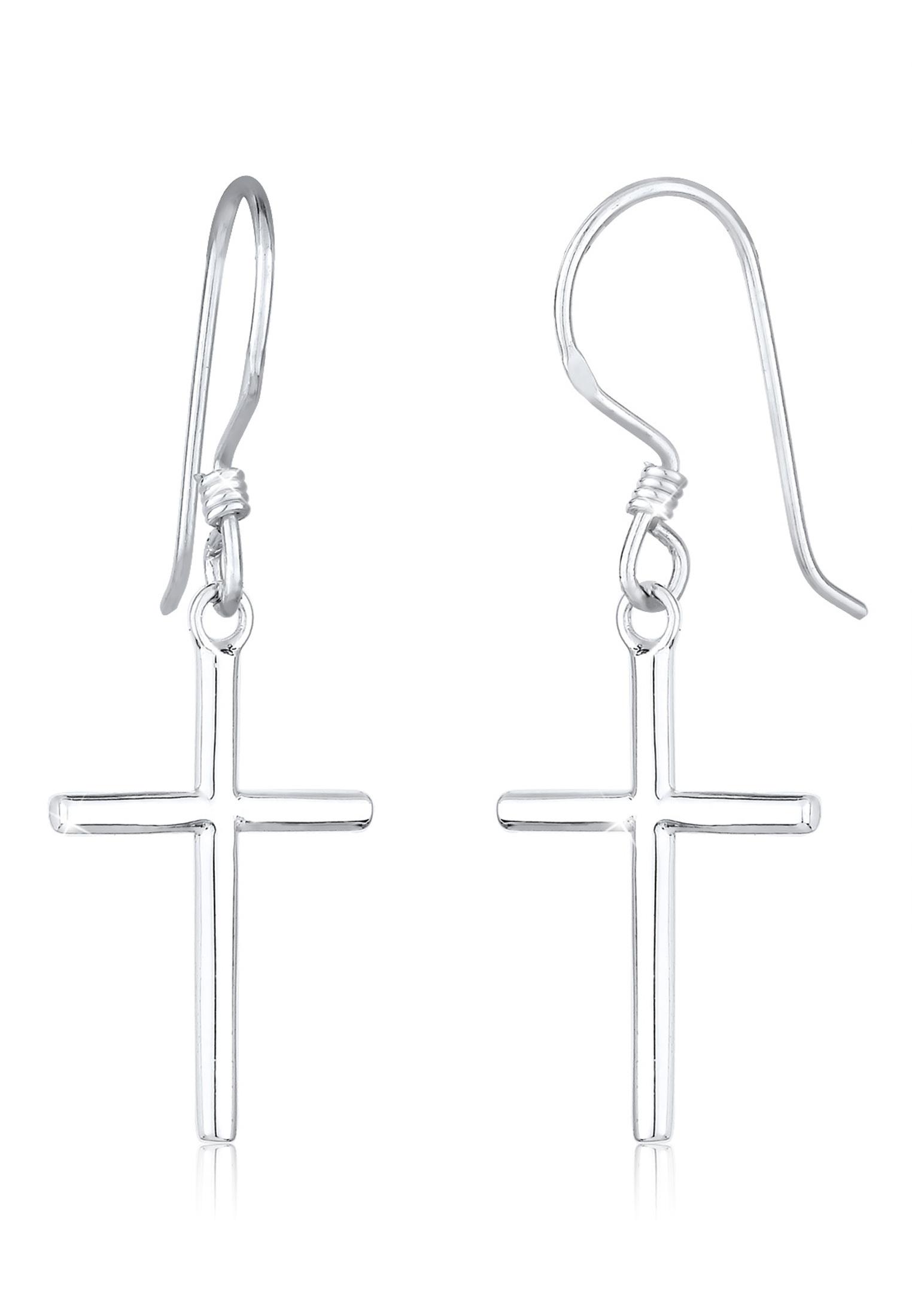 Ohrhänger Kreuz   925er Sterling Silber