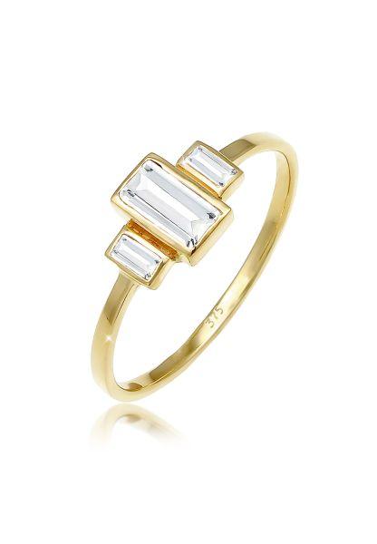 Verlobungsring   Topas ( Weiß )   375 Gelbgold