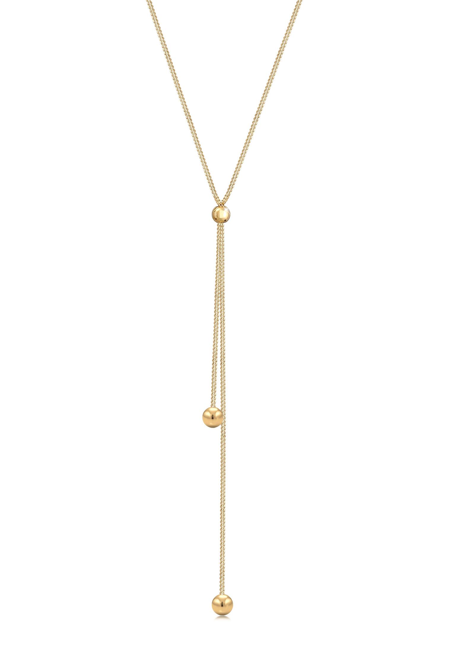 Y-Halskette Kugel Verstellbar | 925er Sterling Silber