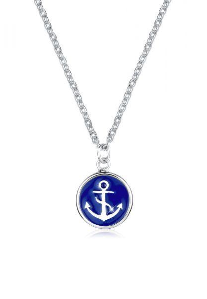 Elli Halskette Anker Maritim Hanseatisch 925 Silber
