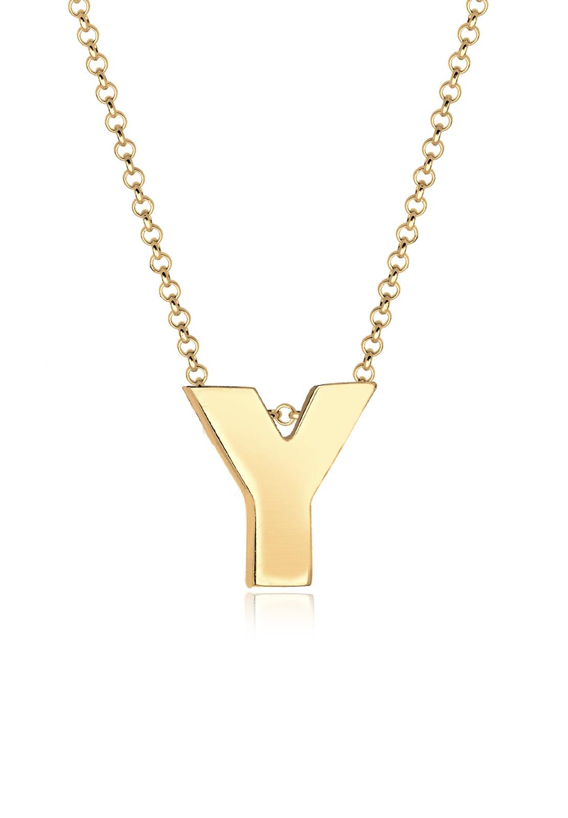 Buchstabe Y Initialen Trend Minimal 925 Silber