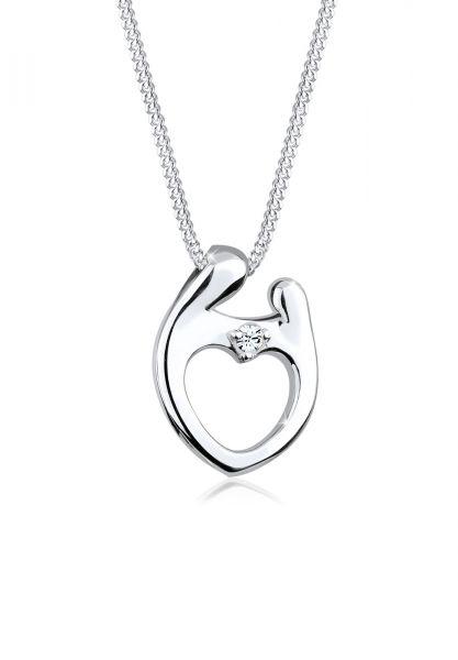 Elli Halskette Muttertag Kristalle 925 Silber