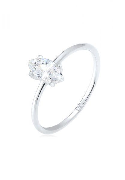 Elli Ring Verlobung Marquise Zirkonia Stein 925 Silber