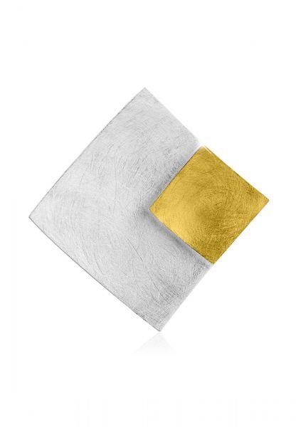 Nenalina Anhänger Schmuckanhänger Rechteck Bi-Color 925 Silber