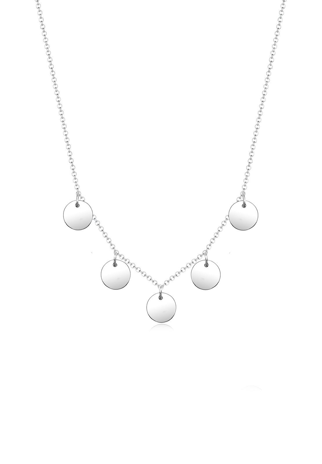 Halskette Plättchen Basic | 925er Sterling Silber
